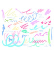 pastel colour doodle background vector image vector image