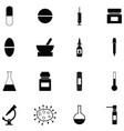 pharmacy icon set vector image vector image