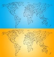 Point Line World Map vector image vector image