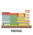portugal landmarks set old porto vector image