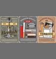 premium quality tobacco cigarettes store vector image vector image