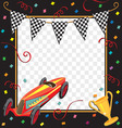 race car party invitation vector image vector image