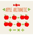 Red apple arithmetic vector image vector image