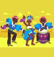 rumba dancers vector image
