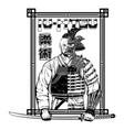 samurai warrior 0002 vector image vector image