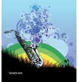 saxophone with circles vector image vector image