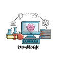 school knowledge utensils to education learn vector image vector image
