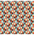 Seamless geometric triangles background Mosaic vector image vector image