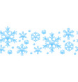 seamless pattern with crystal snowflakes vector image vector image