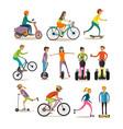 set modern street sport transport vector image