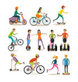 set of modern street sport transport vector image vector image