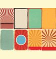 set of retro style grunge backgrounds design vector image vector image
