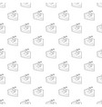 sleeping icon outline style vector image vector image