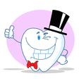 Smiling Winking Gentleman Tooth vector image vector image