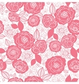 Soft pink and white florals seamless pattern vector image