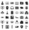 spam virus icons set simple style vector image vector image