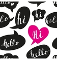 Speech bubbles with Hello word seamless pattern vector image vector image