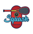 squash logo with text space for your slogan vector image vector image