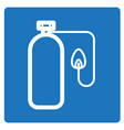 thin line oxygen tube icon vector image vector image