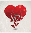 Valentine s day card geometric triangle pattern vector image