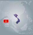 vietnam information map vector image