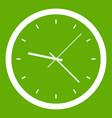 wall clock icon green vector image vector image
