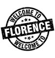 welcome to florence black stamp vector image vector image