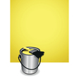 yellow paint pot background vector image vector image