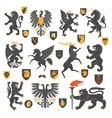 Heraldic Animals And Elements vector image