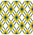 rhombus geometric green and blue seamless pattern vector image
