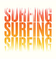 surfing tee print t-shirt design graphics stamp vector image