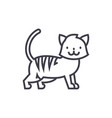 cute cat line icon sign o vector image