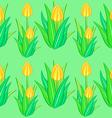 yellow tulip seamless pattern vector image