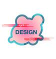 abstract logo design template creative wavy vector image vector image