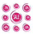Abstract Paint Stains Sale and Discounts Badges vector image vector image