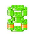 alphabet blocks figures constructor vector image vector image