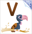 Animal alphabet for the kids V for the Vulture vector image vector image