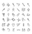 barbershop and beauty salon icons set vector image