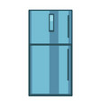 blue colored fridge vector image
