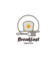 breakfast logo vector image vector image