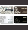 business card gear design vector image vector image