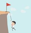 Business man climbs a mountain vector image vector image