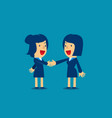 business woman shaking hands to seal an agreement vector image