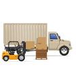 cargo truck concept 04 vector image