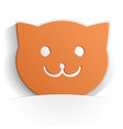 cat icon paper vector image vector image