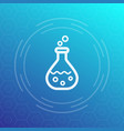 chemistry icon reaction in test tube vector image vector image