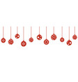 christmas balls decorations isoladed hanging vector image vector image