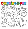 coloring book baby clothes vector image vector image