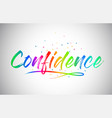 confidence creative word text vector image vector image