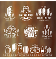 Craft beer brewery emblems vector image